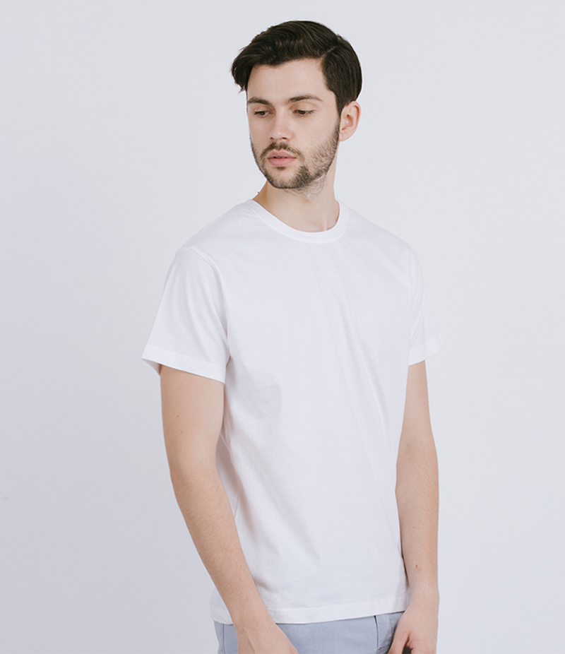 Men's Solid White Cotton T-shirt For Pakistan Independence Day. 14AUG-2
