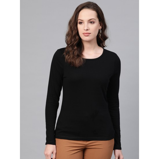 Women's Pack of 3 Deep Neck Long Sleeve T-shirt. SM-137