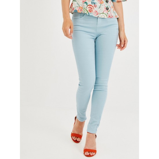 Blue Ernest Skinny Fit Mid-Rise Clean Look Stretchable Jeans For Women. SD-1202