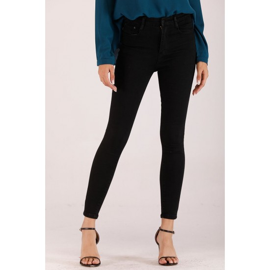 Jet Black Denim Jeans For Women. SD-1193