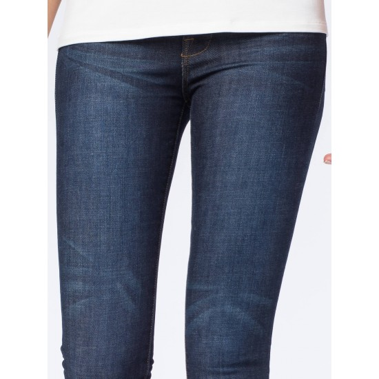 Women's Navy Blue Distressed Detailed Jeans. SIS-22