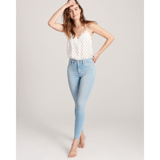 Women's Ice Blue Slim And Fit Jeans. SIS-26