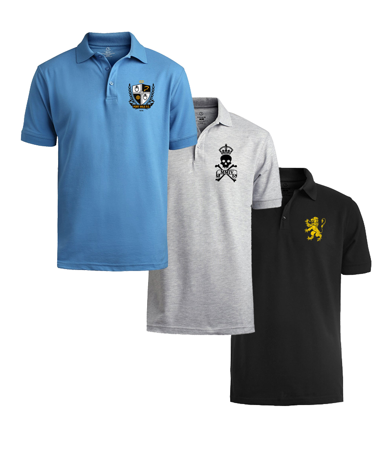 Men's Pack of 3 Branded Polo Shirts. SGB-P561