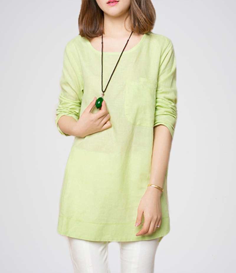 Women's Sea Green Long Sleeves Top. E4H-13