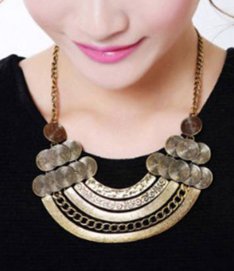 Women's Alloy Metal Multi-Layer Pendant Necklace. EAN-135