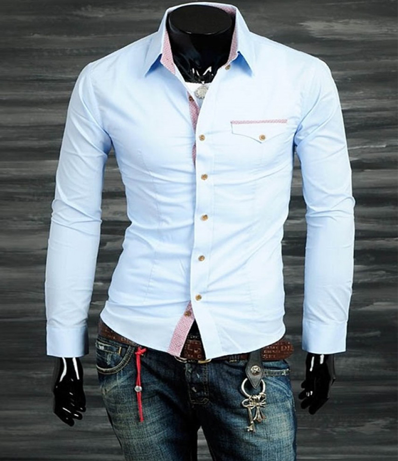 Men's Casual Short Body Provoking Shirt. EC-125 (D)