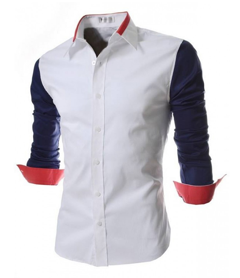 Men's Malaysian Cotton Three Tone Contrast Shirt. EC-135 A