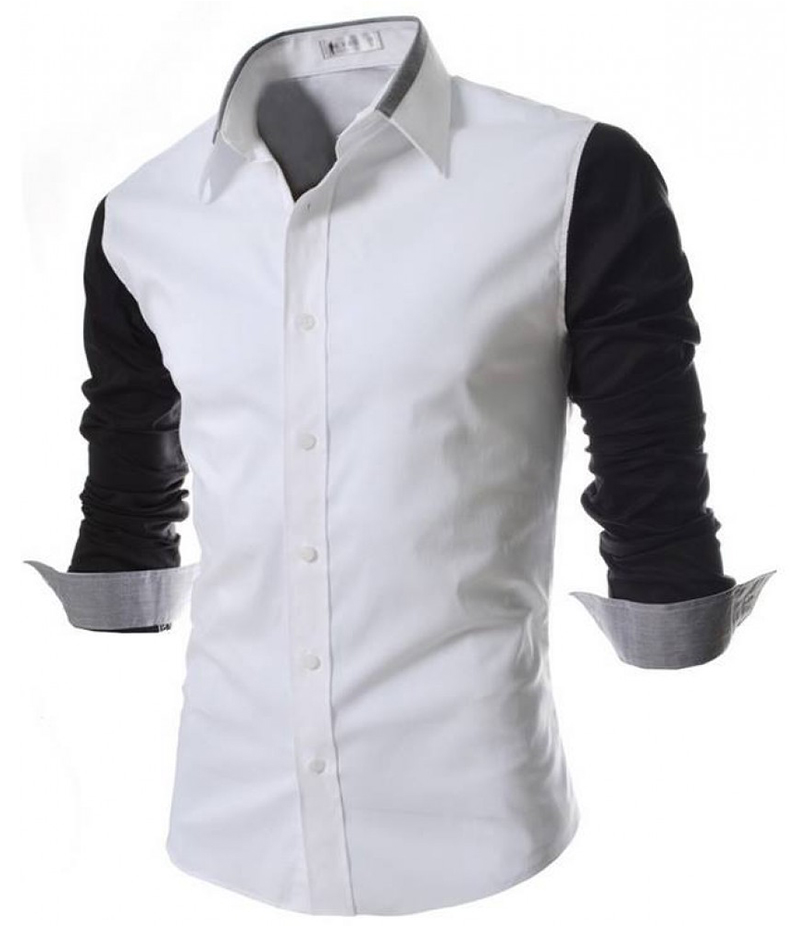 Men's Malaysian Cotton Three Tone Contrast Shirt. EC-135 B