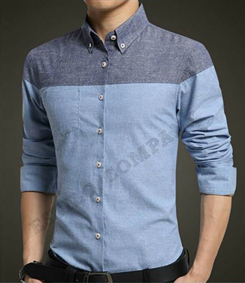 Men's Double Color The Fiction Shirt. EC-179 (B)