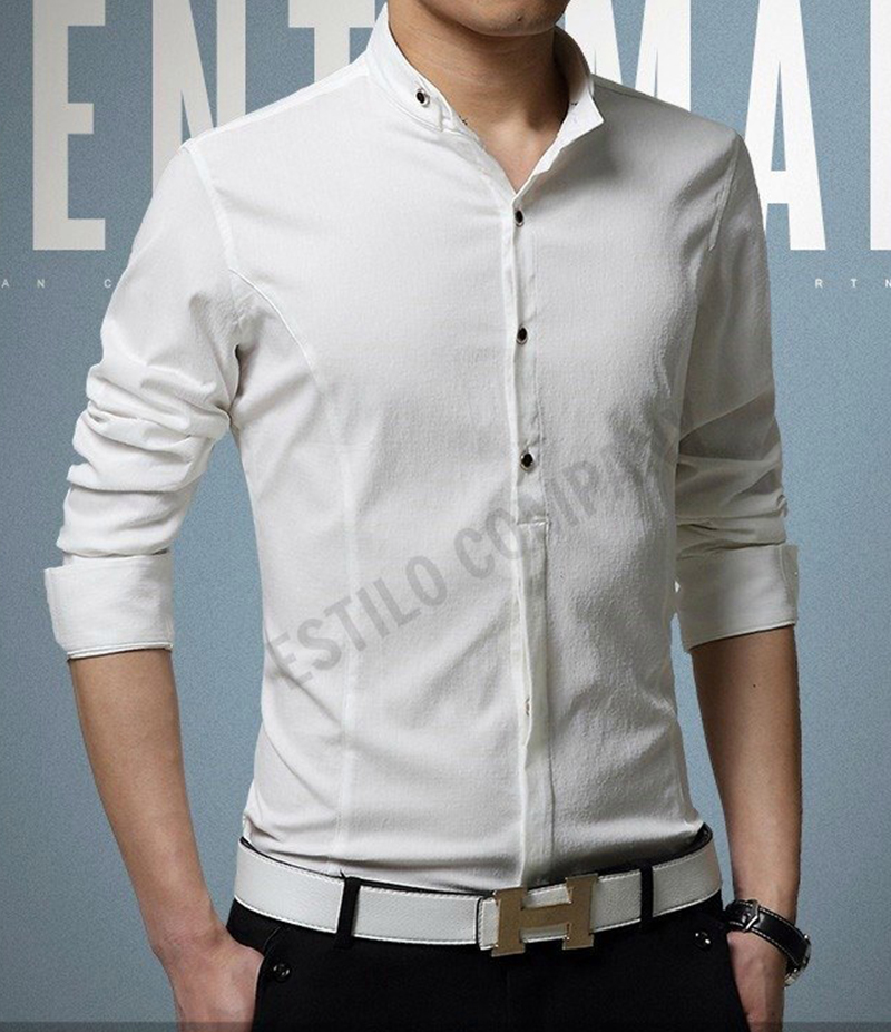 Men's Solid White The Illusive Shirt. EC-181 (A)