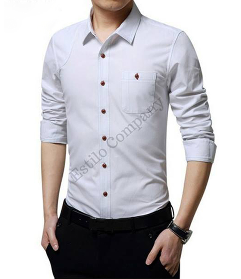 Men's Snow White The Primo Shirt. EC-183 (A)