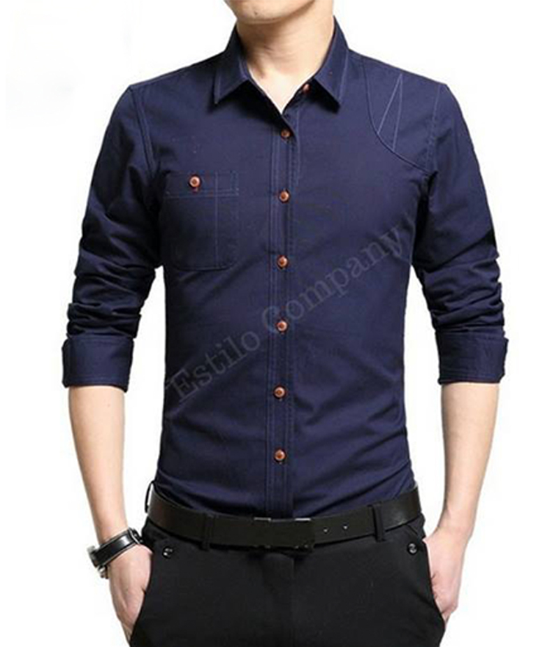 Men's Navy Blue The Primo Shirt. EC-183 (B)