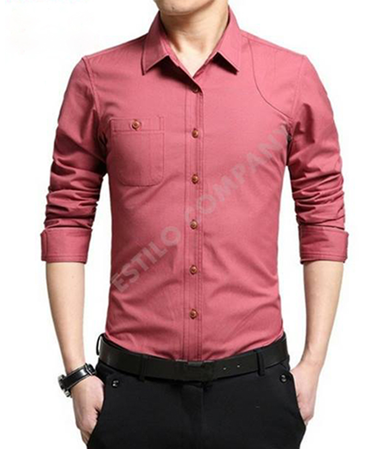 Men's Brick Red The Primo Shirt. EC-183 (C)