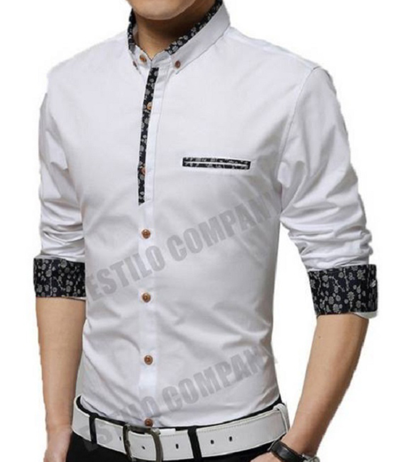 Men's White Malaysian Cotton The Splendor Shirt. EC-184 (A)