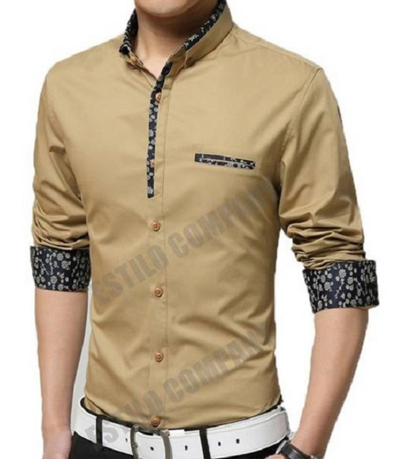 Men's Navy Blue Malaysian Cotton The Splendor Shirt. EC-184 (C)