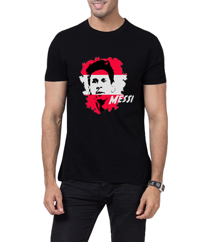 Men's Black Messi-Ism Printed T-Shirt. AJ-MSM23