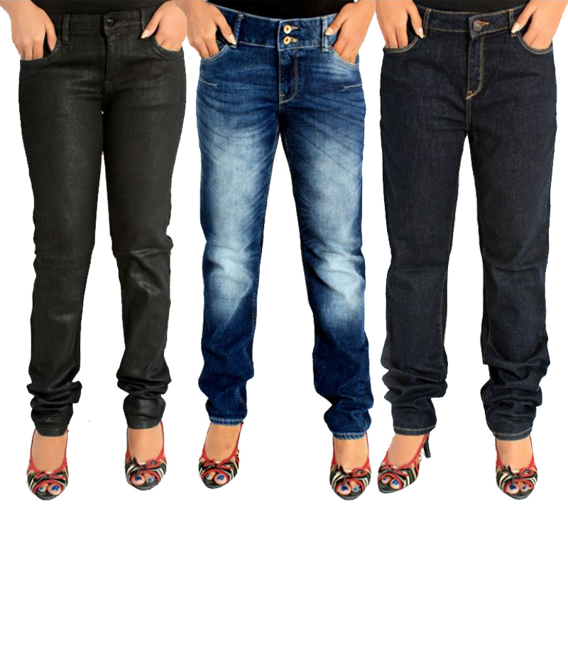 Women's Pack of 3 Denim Jeans. FF-0015