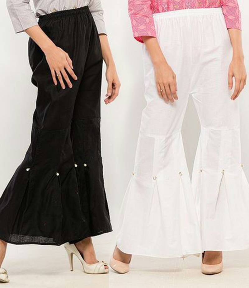 Women's Pack of 2 Gharara Pants. FF-0029292211
