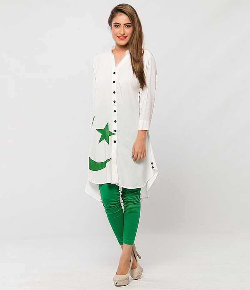 Women's Pack of 2 Linen Flag Printed Kurti With Tights. FF-14AUG5