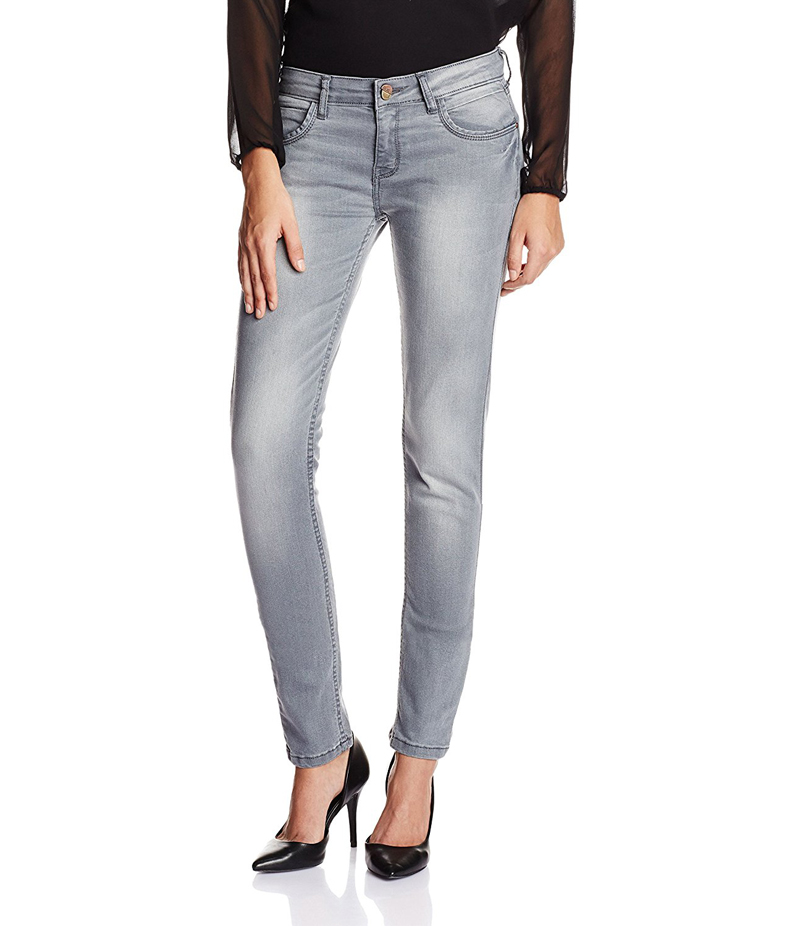 Women's Pack of 2 Grey & Shiny Black Jeans. FF-JP2001