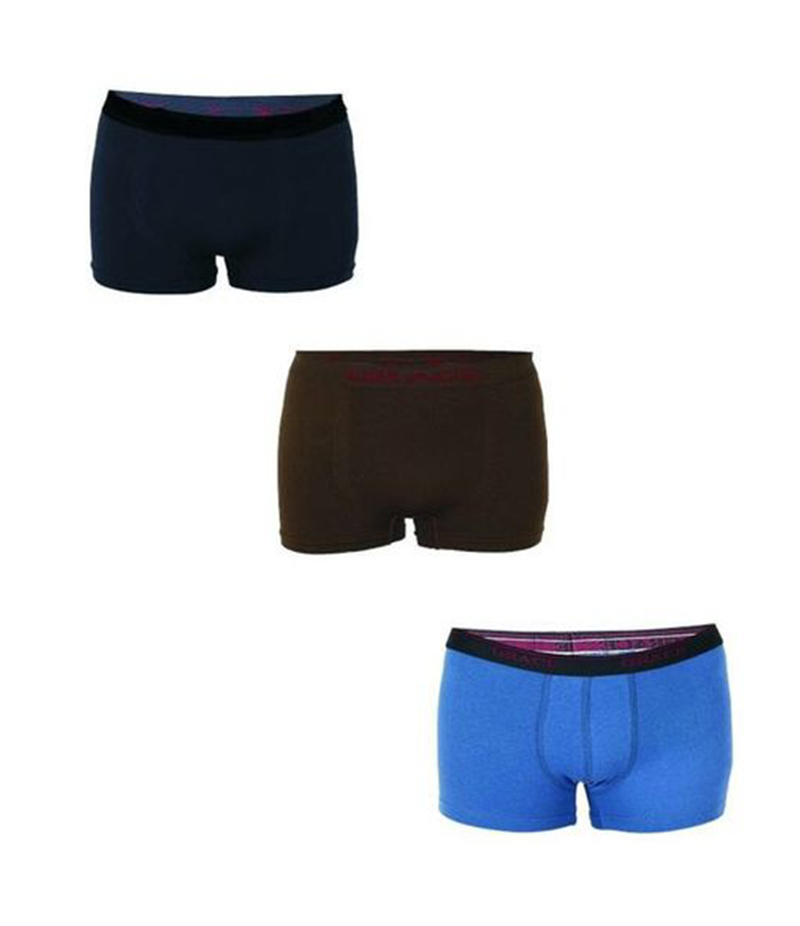 Men's Pack of 3 Multicolor Cotton Boxers. FZ-NA2