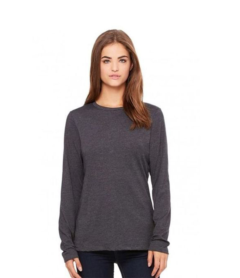 Women's Charcoal Grey Long Sleeve T-Shirt. FZ-T05