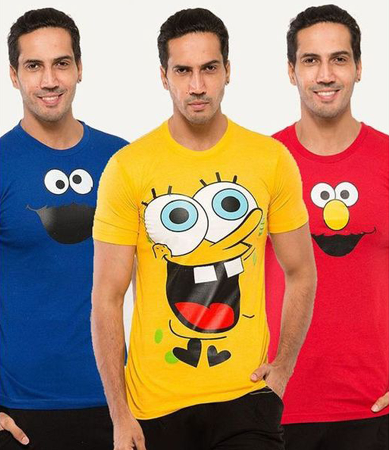 Men's Pack of 3 Cartoon T-shirts. FZ-T10