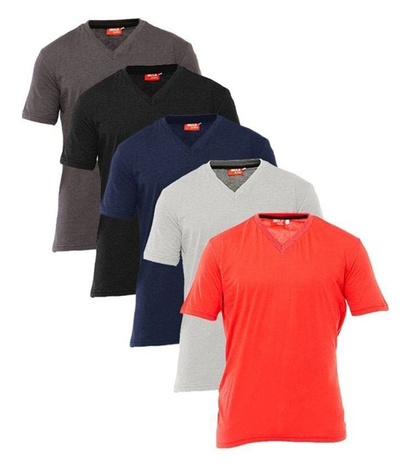 Fashion Zone - Men's Pack of 05 V-Neck T-shirts. FZ-T101