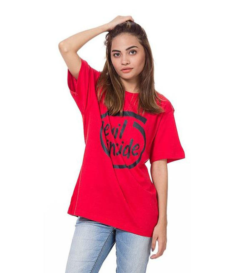 Women's Red Devil Inside Graphics T-Shirt. FZ-T31