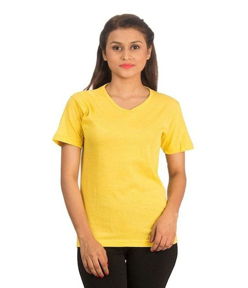 Men's V-Neck Yellow T-shirt. FZ-T39