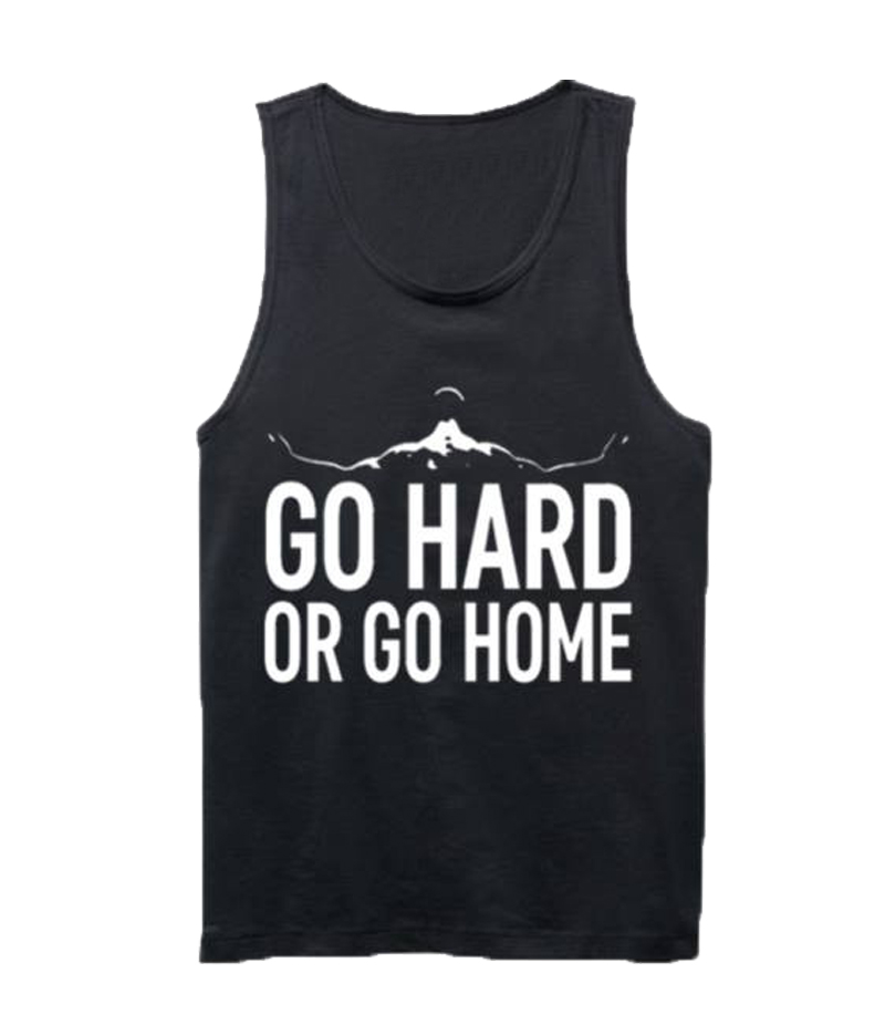 Men's Black Go Hard Or Go Home Vest. GHGH-T3