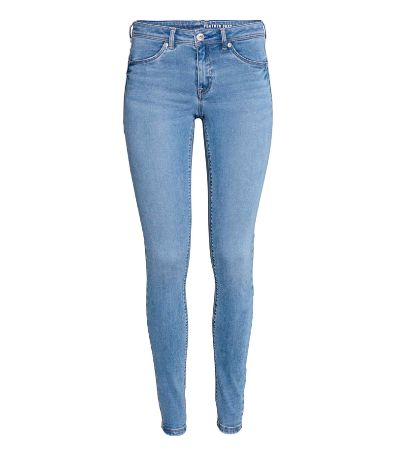 Women's Light Blue Denim Jeans. HOA-J7