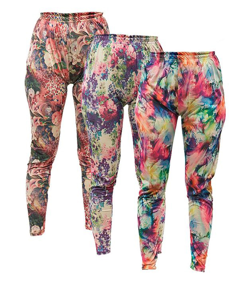Women's Pack of 3 Floral Printed Tights. P3-FPT1