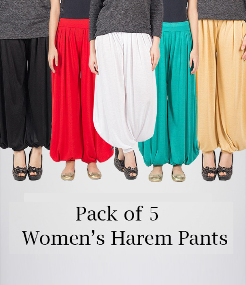 Women's Pack of 5 Harem Pants. AJ-0107