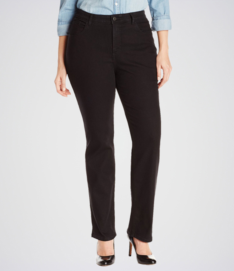 Women's Black Comfort Fit Bootcut Jeans. KT-01012