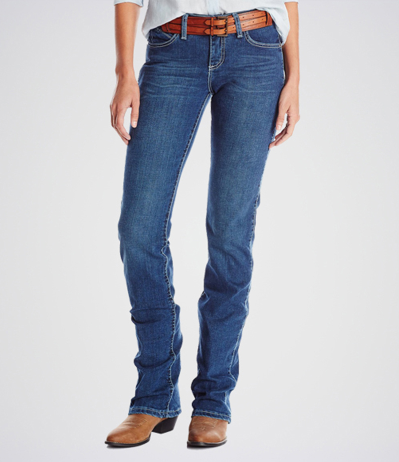 Women's Classic Fit Straight Leg Jeans. KT-01015