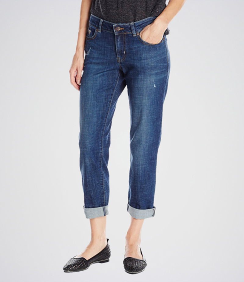 Women's Dark Blue Curvy Fit Jeans. KT-01019