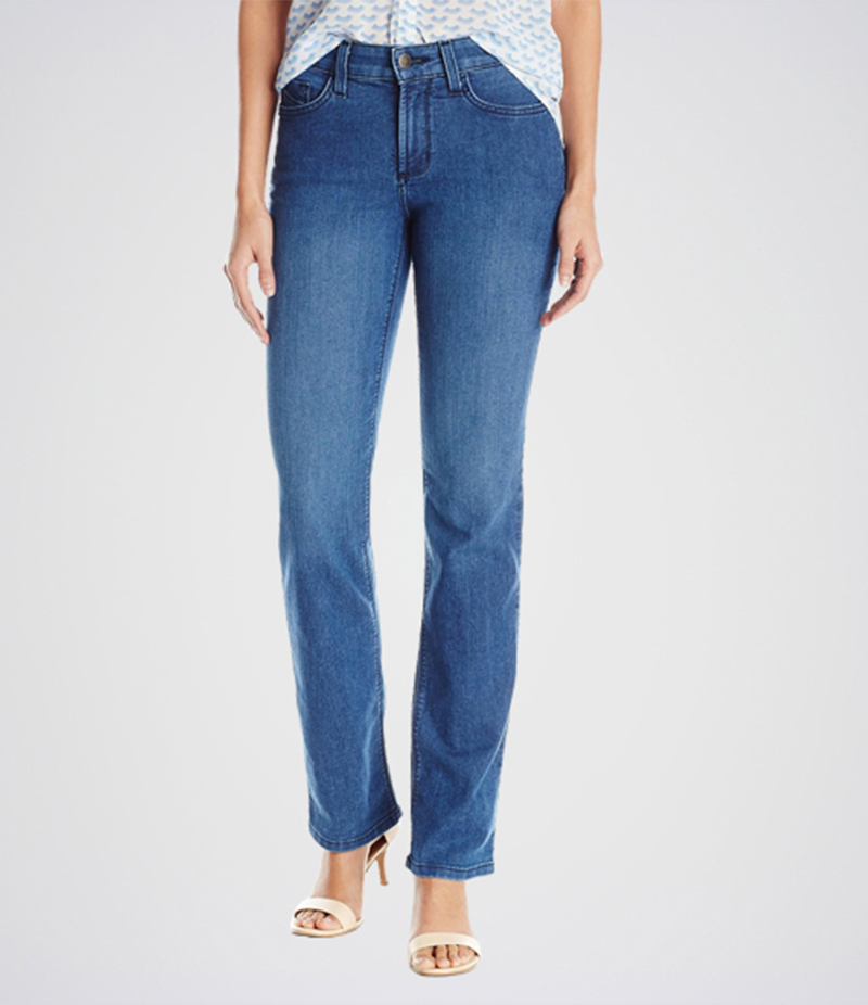 Women's Light Blue Marilyn Straight Jeans. KT-01021