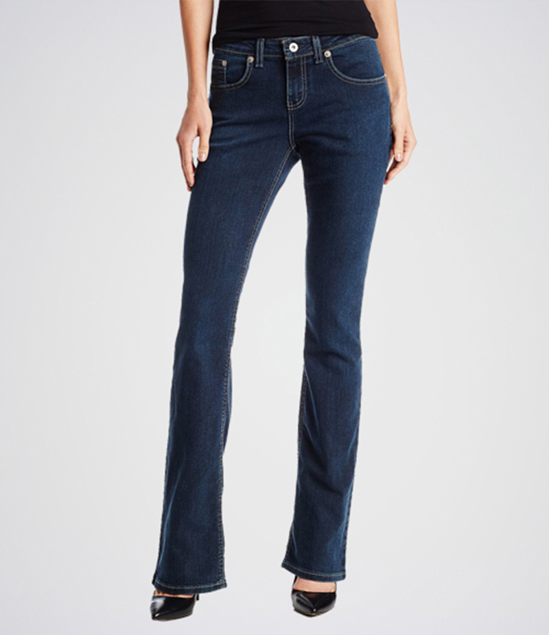 Women's Black Marilyn Straight Jeans. KT-01022