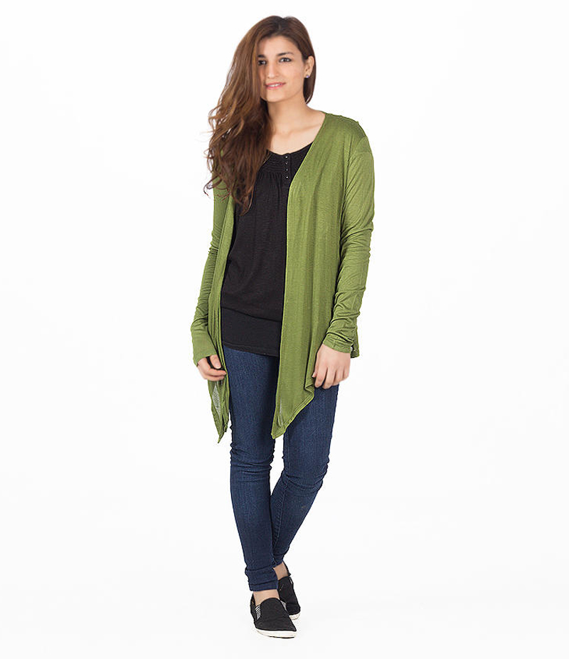 Women's Army Green Cocktail Short Shrug. KTY-121-GRN