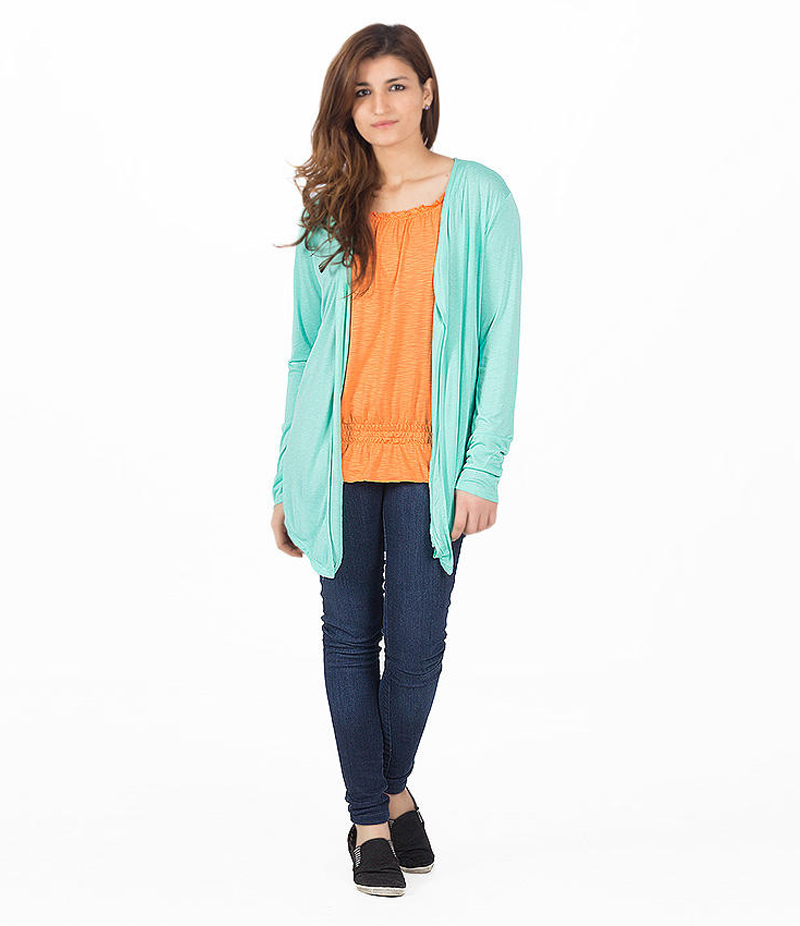 Women's Sea Green Cocktail Short Shrug. KTY-121-SGN