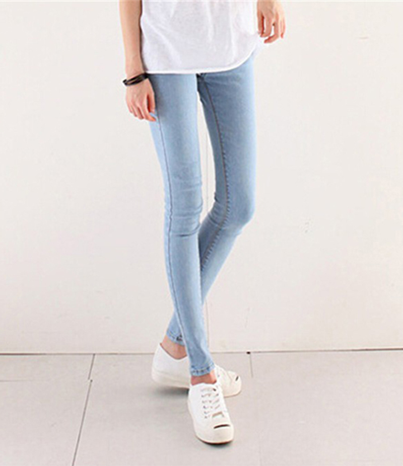 Women's Light Blue Skinny Jeans. KTY-4851
