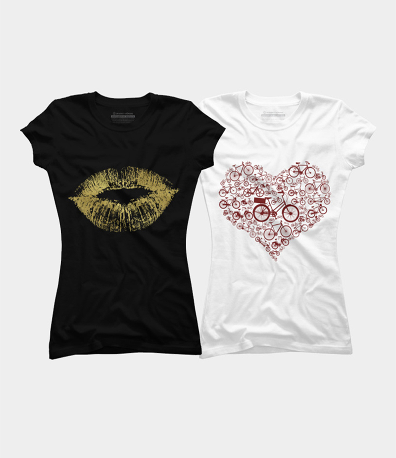 Women's Pack of 2 Printed T-shirts. KTY-FP2T193
