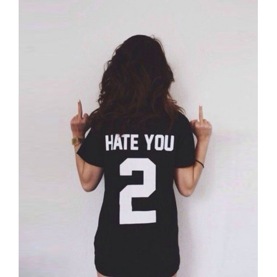 Women's Hate You 2 Graphics Printed T-shirt. KTYY-HT2