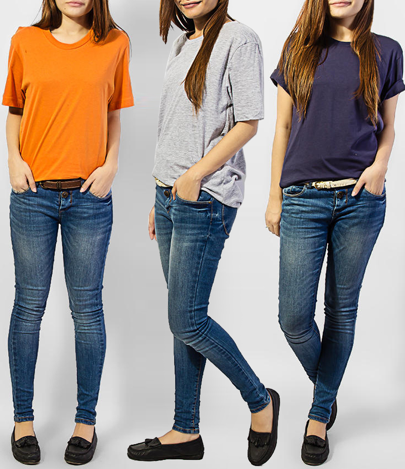 Women's Pack of 3 Cotton T-shirts. KTY-HTP32