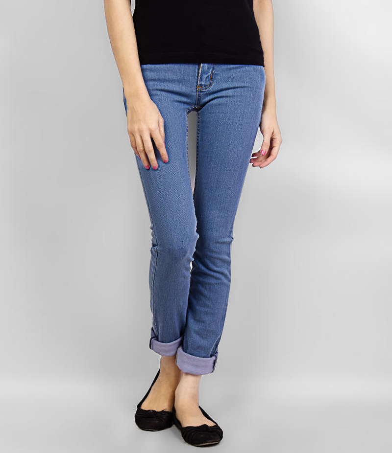 Women's Dim Blue Skinny Denim Jeans. KTY-J1917