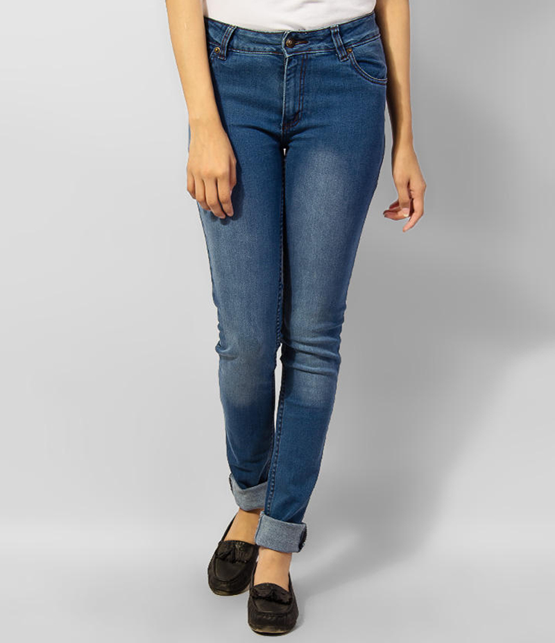 Women's Dark Blue Skinny Denim Jeans. KTY-J1920