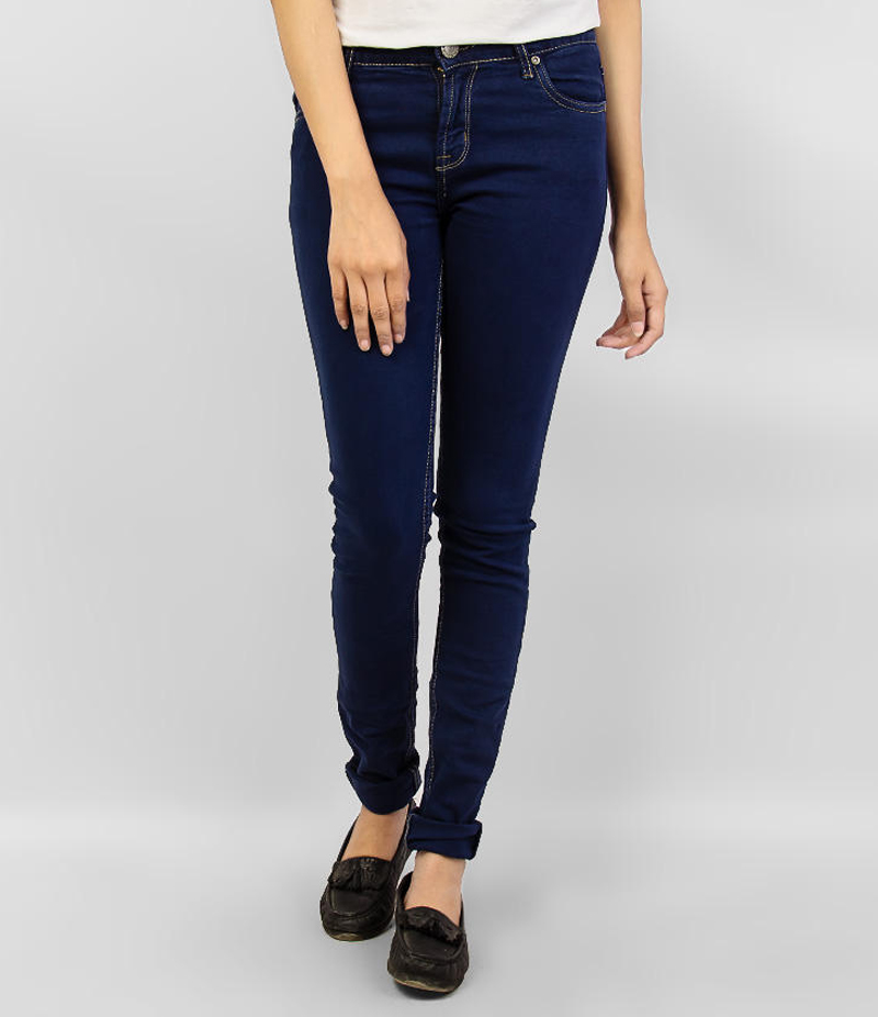 Women's Navy Blue Skinny Denim Jeans. KTY-J1921