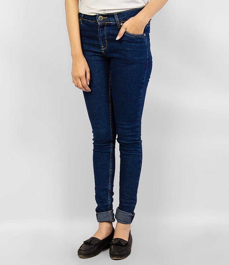 Women's Navy Blue Skinny Denim Jeans. KTY-J1923