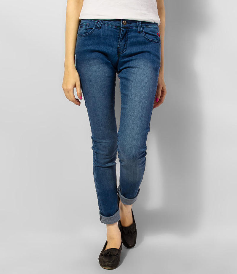 Women's Blue Skinny Denim Jeans. KTY-J1926